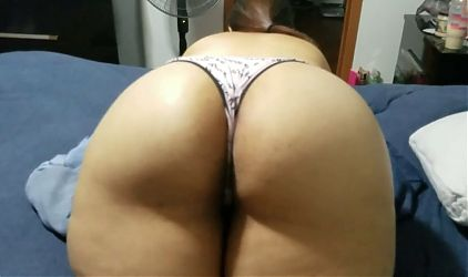 Laying on the bed showing my big ass