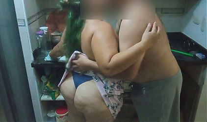 Bbw – Sexy Maid Preparing Dinner With Happy Ending
