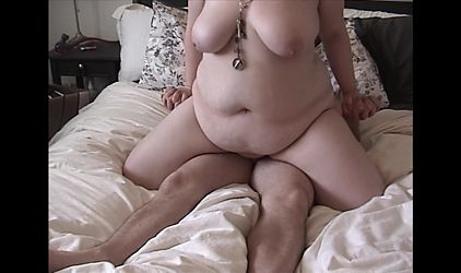 Fat young wife rides cock