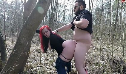 Hot Chubbies Fuck in the Woods
