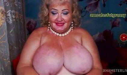Beautiful fat lady in underwear.