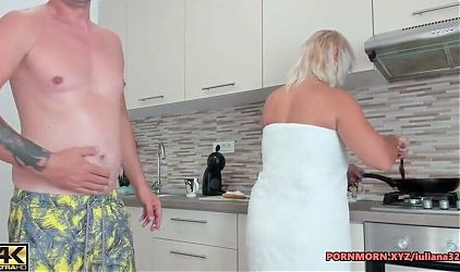 Fuck this milf why she is cooking