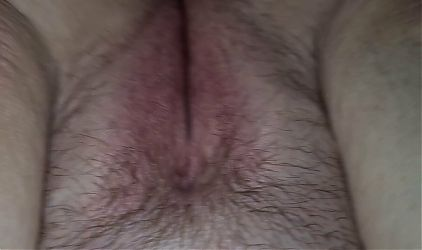 Bbw's tight asshole fucked, loud orgasm, pushing cum out, very messy